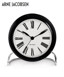 Roman Table Clock skandynawski szegar stołowy Arne Jacobsen