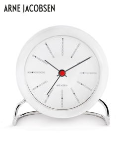 Bankers Table Clock designerski zegar stołowy | Arne Jacobsen