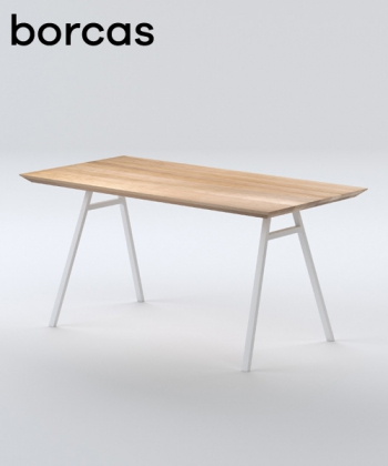 Klippe dębowy stół drewniany w stylu skandynawskim | Borcas