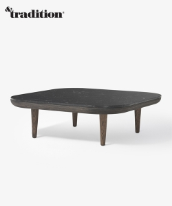 Fly Lounge Table SC4 biały marmur i dąb bielony | &Tradition | design Space Copenhagen