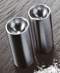 Cylinda Line designerska klasyczna solniczka i pieprzniczka | Stelton | design Arne Jacobsen