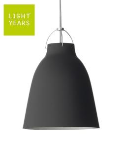 Caravaggio Matt P2 czarny skandynawska designerska lampa wisząca | Lightyears | design Cecilie Manz