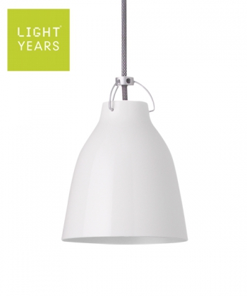 Caravaggio P0 biała skandynawska designerska lampa wisząca | Lightyears | design Cecilie Manz