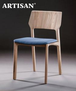 Fin Soft designerskie krzesło drewniane z tapicerowanym siedziskiem | Artisan | Design Spichlerz
