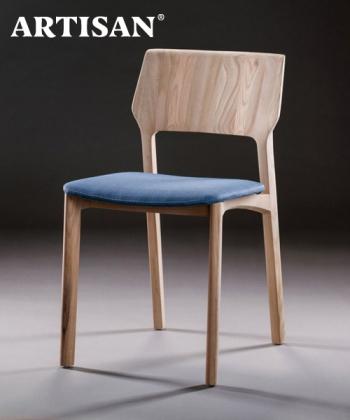 Fin Soft designerskie krzesło drewniane z tapicerowanym siedziskiem   Artisan   Design Spichlerz