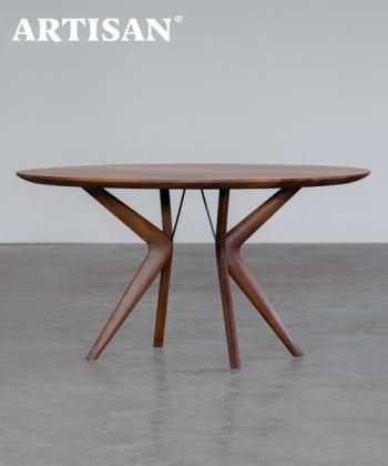 Lakri designerski drewniany stół okrągły   Artisan   Design Spichlerz