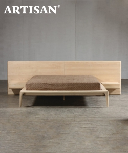 Latus designerskie łóżko drewniane | Artisan | Design Spichlerz