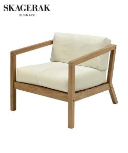 Virkelyst skandynawski fotel ogorodowy Ash (szary) | Skagerak | Design Spichlerz