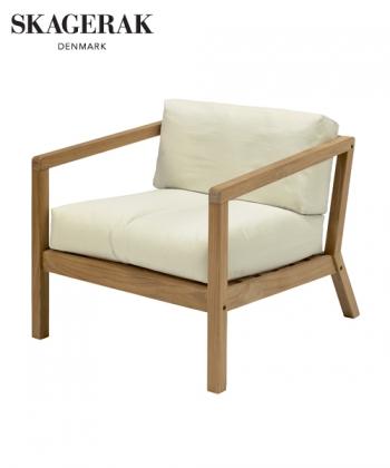 Virkelyst skandynawski fotel ogorodowy Eggshell (ecru) | Skagerak | Design Spichlerz