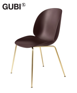 Beetle Chair Dark Pink / mosiądz skandynawskie krzesło designerskie | Gubi | GamFratesi | Design Spichlerz