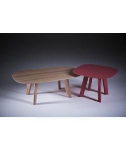 Luc oval stolik kawowy z litego drewna Artisan | Design Spichlerz